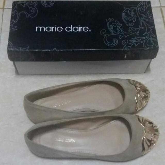 Marie Claire Nude Suede Flat Shoes
