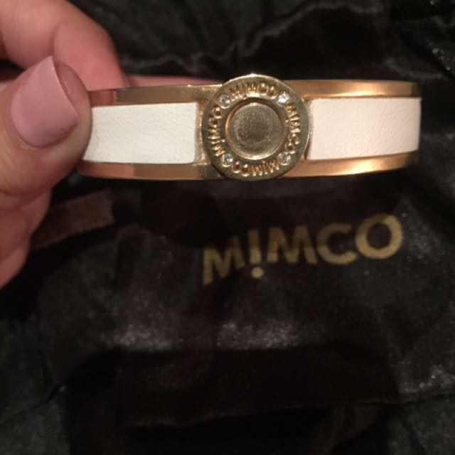 Mimco White And Gold Bracelet