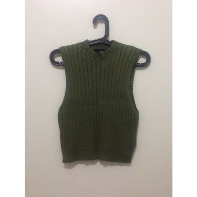 Moss Green Turtle Neck Top