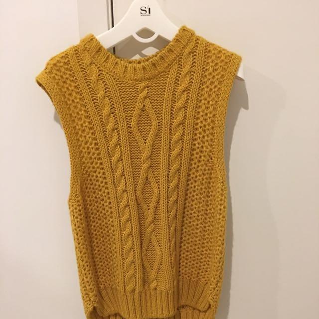 Mustard knit vest