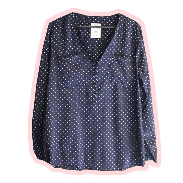 Navy Dotted Shirt