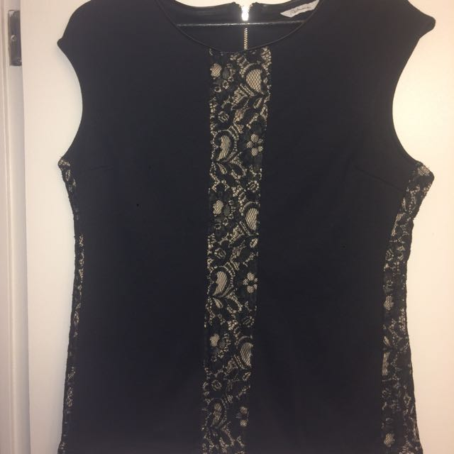 Never Worn Reitman's Top With Lace Accents
