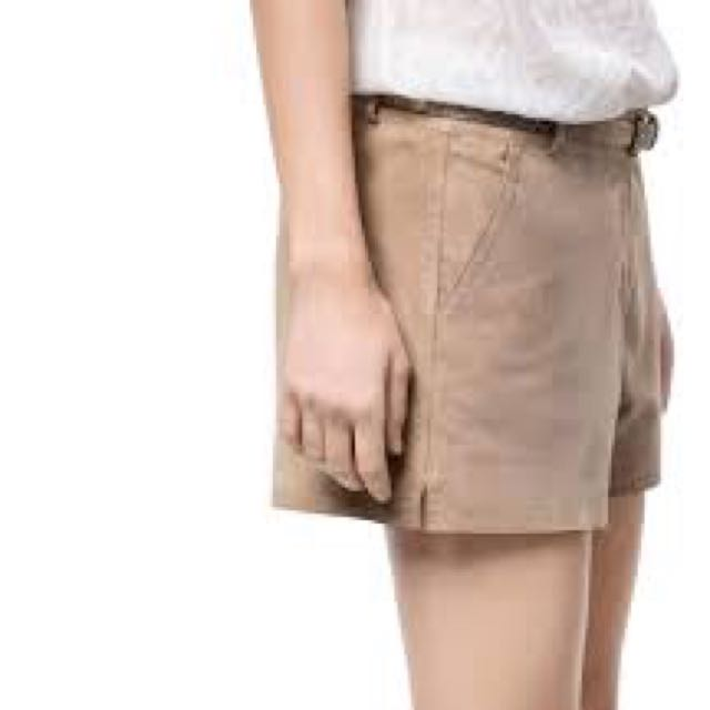 NEW Massimo Dutti Suede Hot Pant