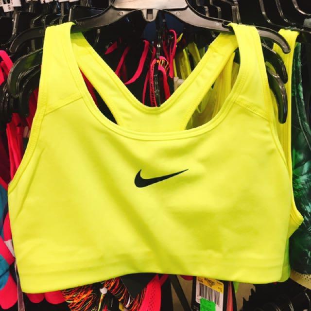 Nike 螢光無內襯運動內衣