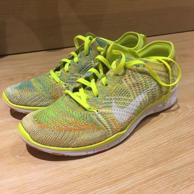 Nike Free Flyknit 運動慢跑鞋 休閒 螢光