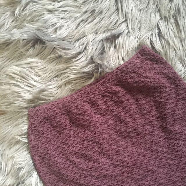 No Brand Purple Patterned Skirt (8-10)