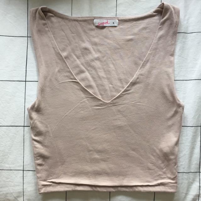 Pale Pink Body-con Crop