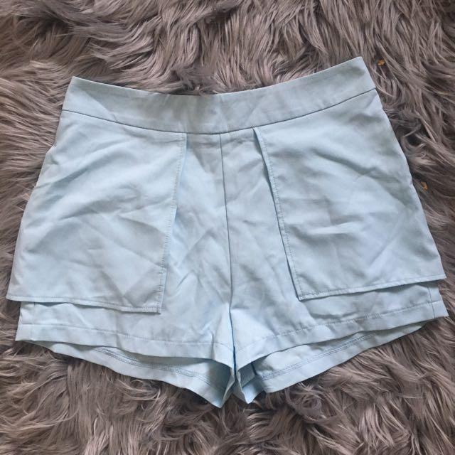 Paradisco Pale Blue Overlay Shorts (8)