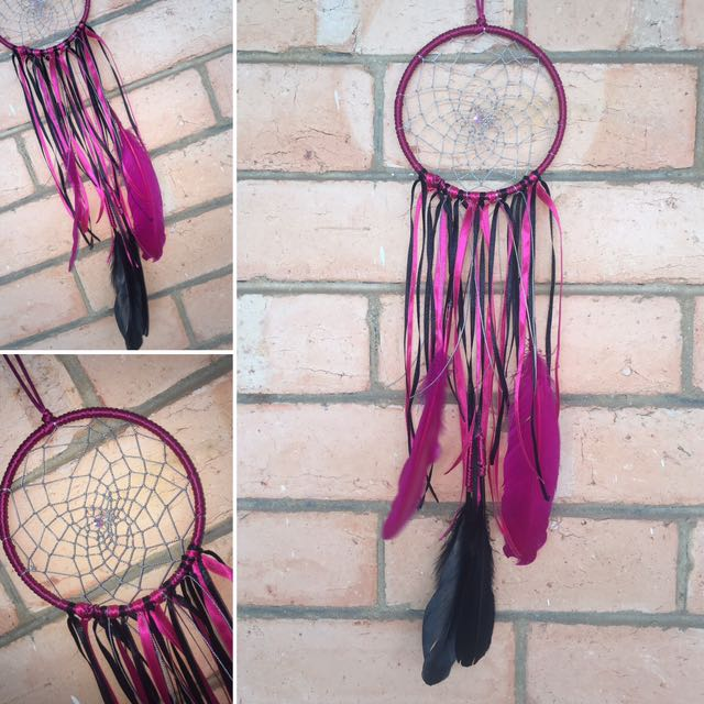 Pink & Black Dreamcatcher