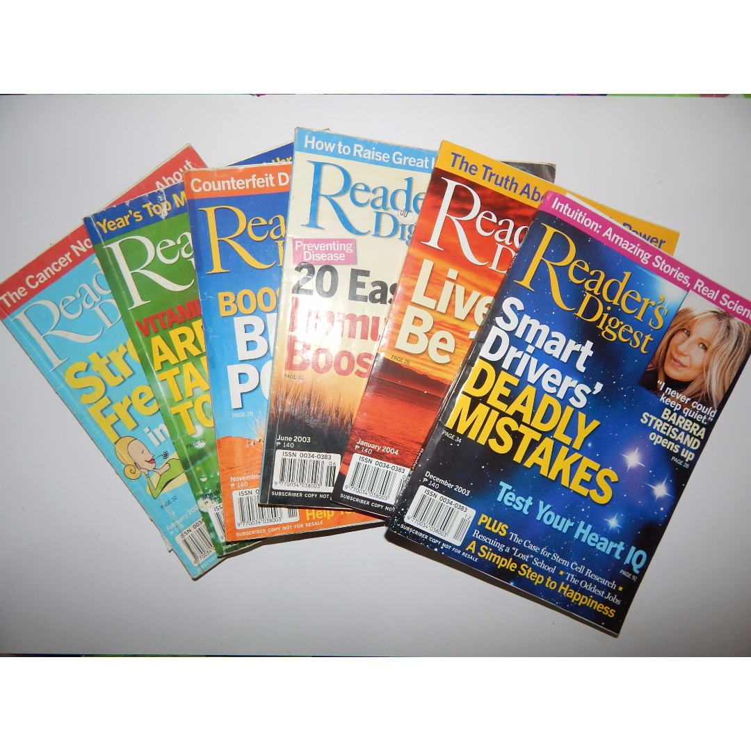 Readers Digest Back Issues