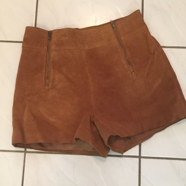 Reduced-Real Suede Forever 21 Shorts