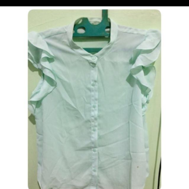 REPRICE - Forever21 Blouse Mint