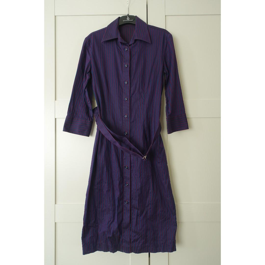 Rhodes and Beckett stripe shirt dress - size 4