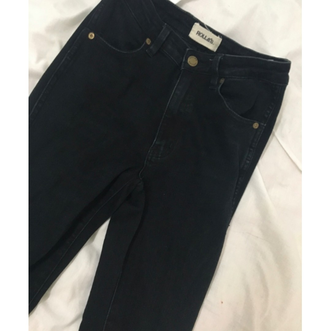 ROLLAS denim black jeans