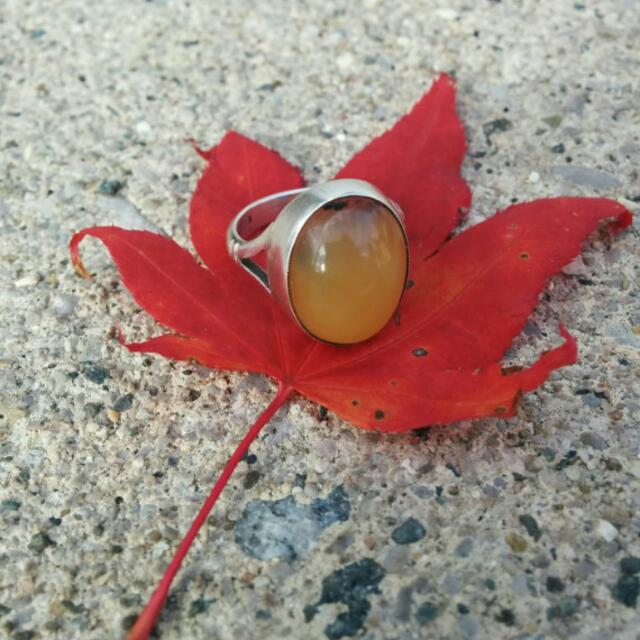 Scottish Agate Opal STERLING Silver Ring