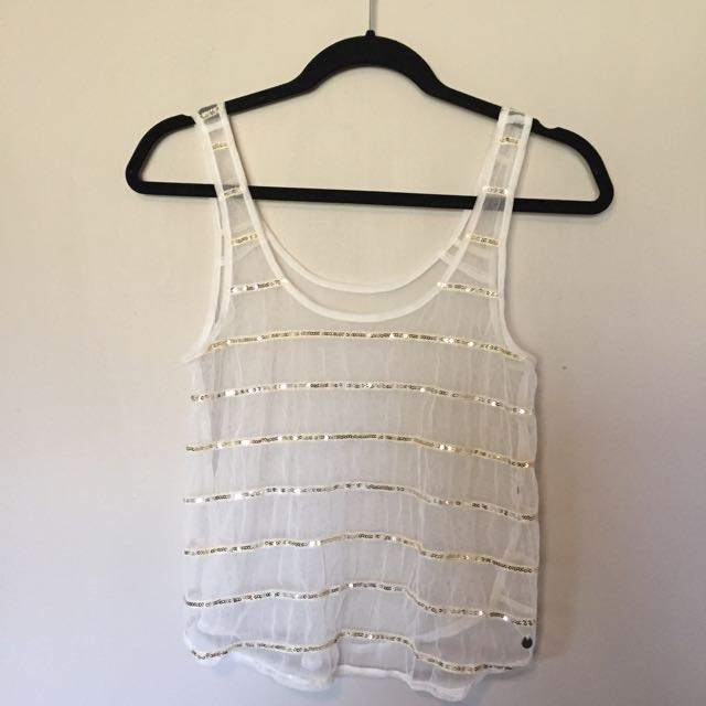 See Through Sparkly Tank Top