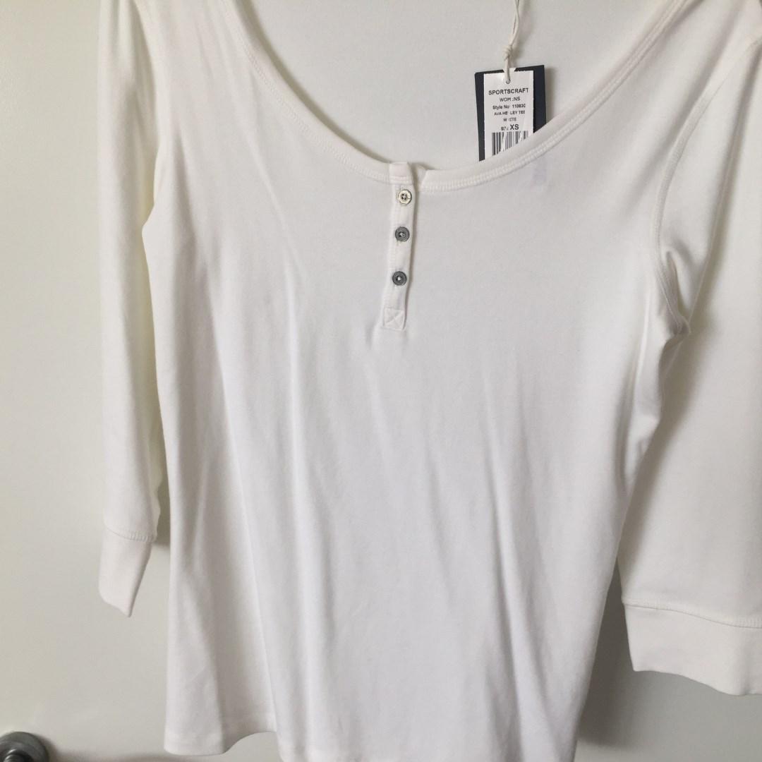 Sportscraft Ava Henley T White Size XS RRP $69.95