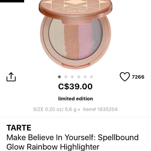 Tarte Make Believe In Yourself HIGHLIGHTER