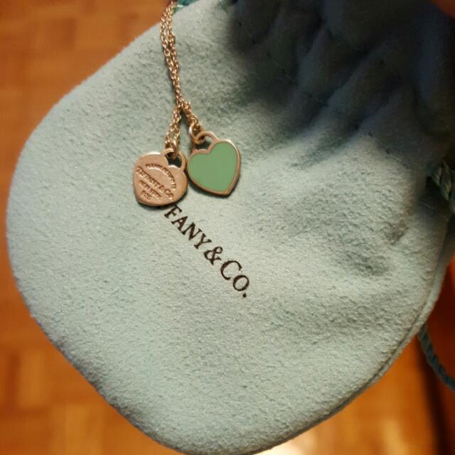 Tiffany Necklace  - Double Heart Pendant