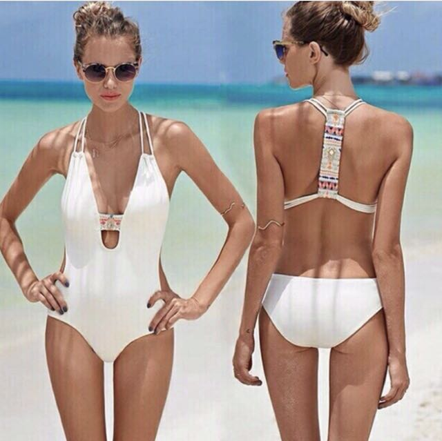 Tribal White One Piece