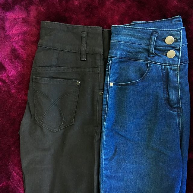 Two High Waisted Skinny Jeans