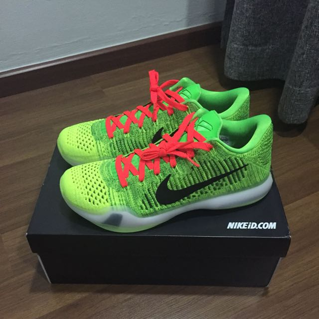 6a4baff283e ... discount us11 kobe 10 elite grinch id mens fashion footwear on  carousell 55d8d 995cc coupon code for nike ...
