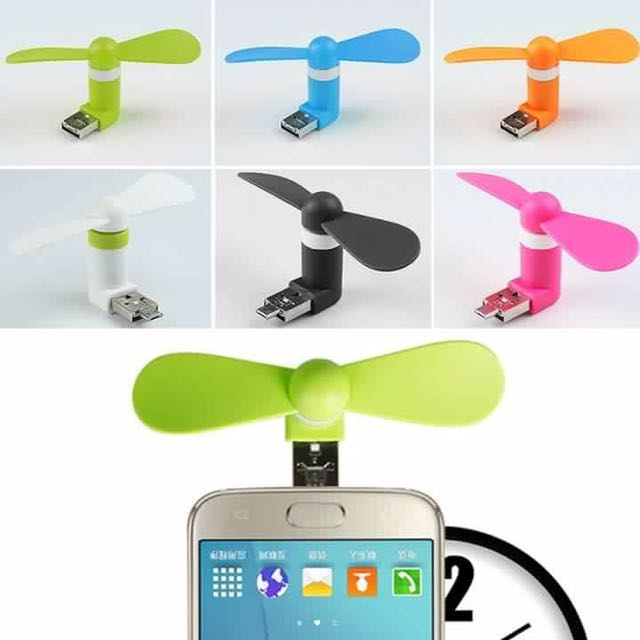 USB FAN 2 in 1 for ANDROID & POWERBANK or APPLE