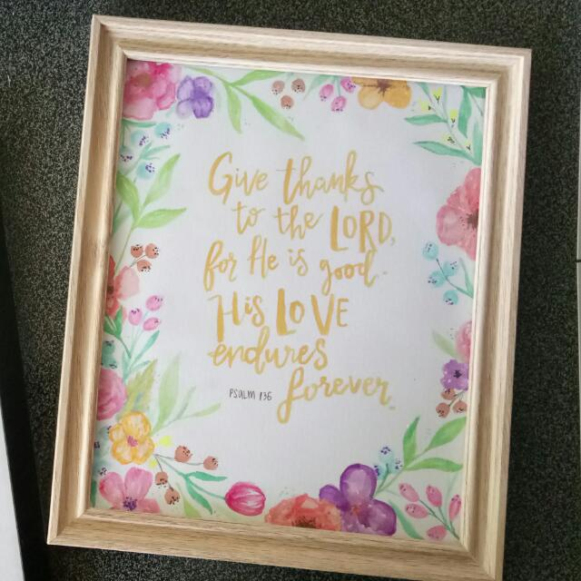 Watercolour Hand Lettering Scripture