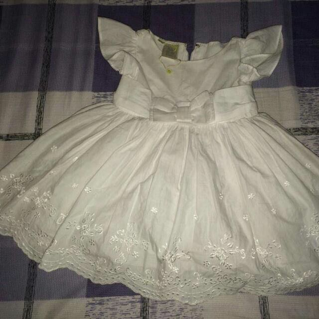 White Dress RUSTANS ON TAG
