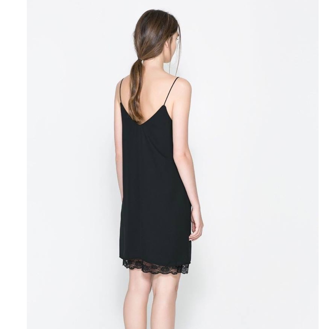 Zara Navy Slip Dress in XS
