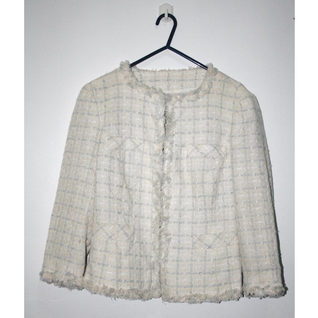 ZARA Preppy Tweed Coat