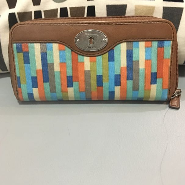 Zip Clutch Fossil Authentic