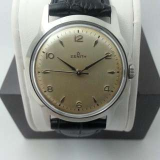 Rare ZENITH Oversized Stainless steel Year 1950s