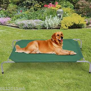 Pawhut Elevated Dog Bed Lounger Sleeper Pet Cot Portable 600D Oxford In/Outdoor