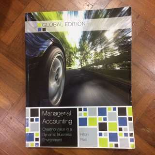 Cost Management Accounting Textbook 1 & 2