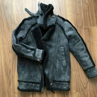 Authentic Diesel lambskin winter coat