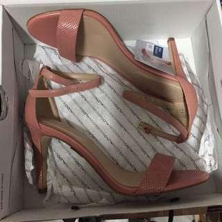 Baby Pink Open Toe Heels