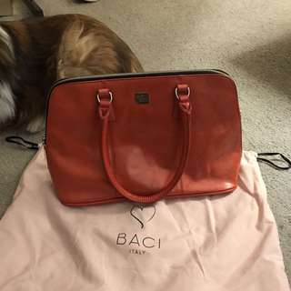 Baci Leather Orange Purse