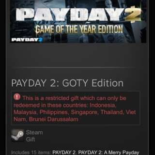 Payday 2 GOTY Edition SEA