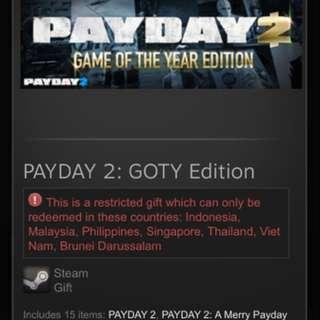 Payday 2 GOTY Edition SEA