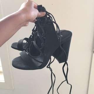 BASEMENT Tie Up Heels Size 36