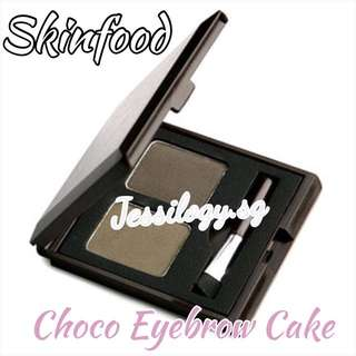 INSTOCK Skinfood Choco Eyebrow Powder Cake In Grey Khaki Black
