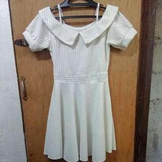 Plain White Knit Dress