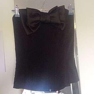 Black Bow Corset