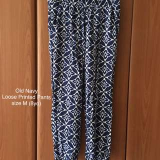 Old Navy Loose Printed Pants