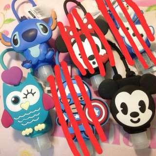Disney 迪士尼 米奇 史迪奇 貓頭鷹 造型 護手乳 吊飾