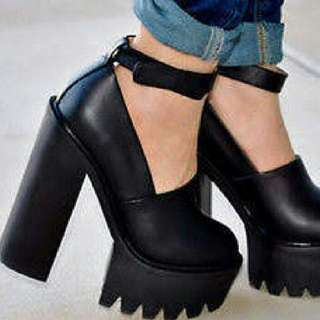 JEFFREY CAMPBELL SKULLY PLATFORM