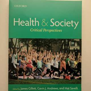 Health And Society Critical Perspectives