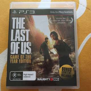 PS3 The Last Of Us Game Of The Year Edition