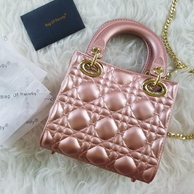 100% authentic Bag of Parody DIOR alike handbag/sling bag (rosegold)